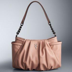 Vera Wang Alicia Pleated Hobo Handbag NWT